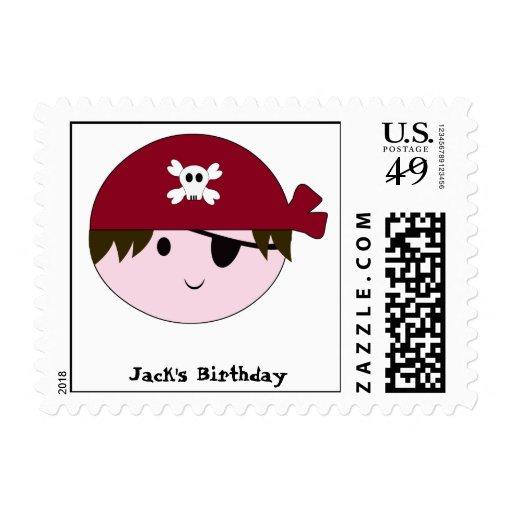 KRW Cute Pirate Custom Stamp