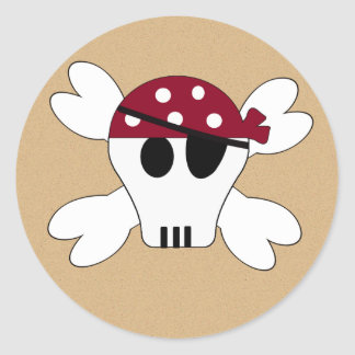 KRW Cute Pirate Skull and Crossbone Stickers