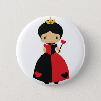 KRW Cute Queen of Hearts Pinback Button