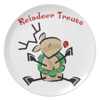 KRW Cute Reindeer Treats Plate