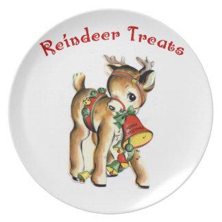 KRW Cute Retro Reindeer Treats Plate