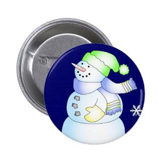 KRW Cute Snowman Holiday Pin