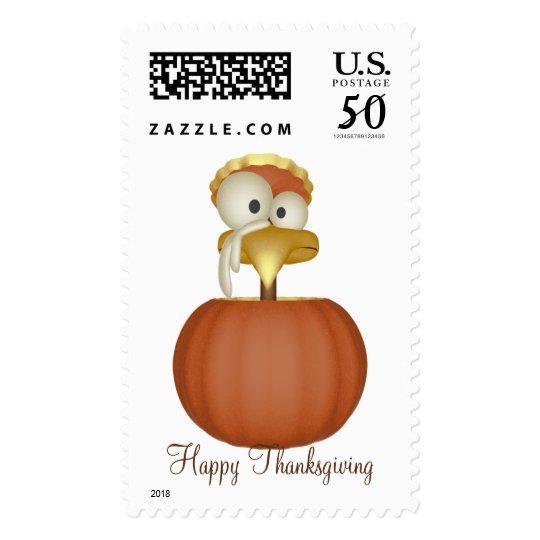KRW Cute Turkey Thanksgiving Stamp