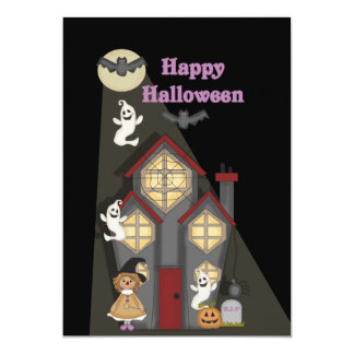KRW Cute Witch n Ghosts Halloween Party Invitation