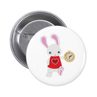 KRW Cute Wonderland White Rabbit Button