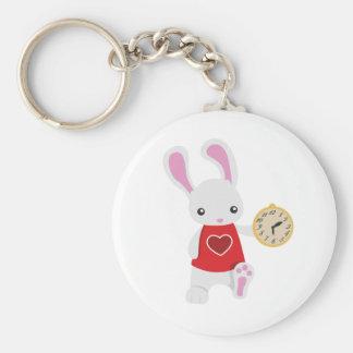 KRW Cute Wonderland White Rabbit Key Chain