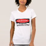 KRW Danger Pregnancy Hormones Funny Tshirts