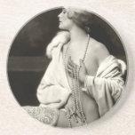 KRW Daring Darling Vintage Risque Photo Coaster