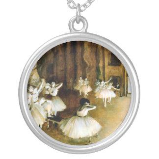 KRW Degas Ballet Vintage Sterling Silver Necklace