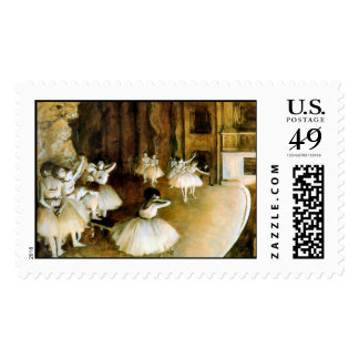 KRW Degas Rehersal of a Ballet on Stage Stamp