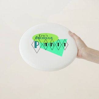 KRW Designs Retro Fun Bachelor Party Frisbee