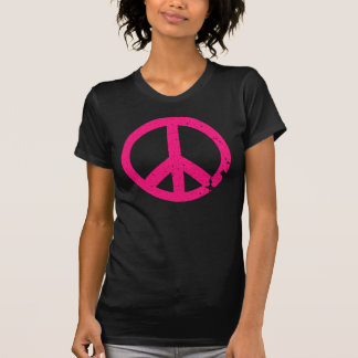 KRW Distressed Pink Peace Sign T-Shirt