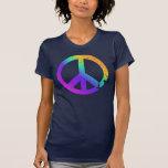 KRW Distressed Rainbow Peace Sign T-shirt