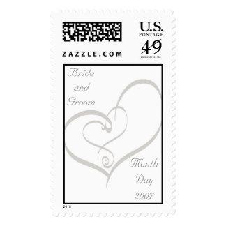 KRW Double Heart Custom Wedding Stamp