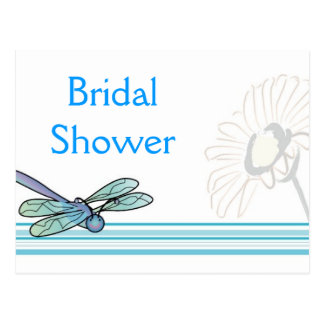KRW Dragonfly Custom Bridal Shower Invitation Postcard