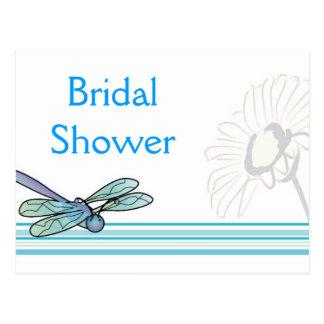KRW Dragonfly Custom Bridal Shower Invitation Postcard