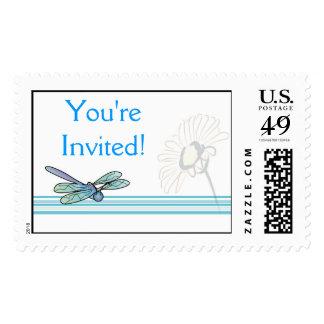 KRW Dragonfly Custom Bridal Shower Stamp