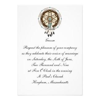 KRW Dreamcatcher Custom Wedding Invitation