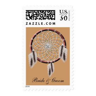 KRW Dreamcatcher Native American Bride and Groom Postage