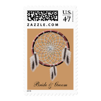 KRW Dreamcatcher Native American Bride and Groom Stamp