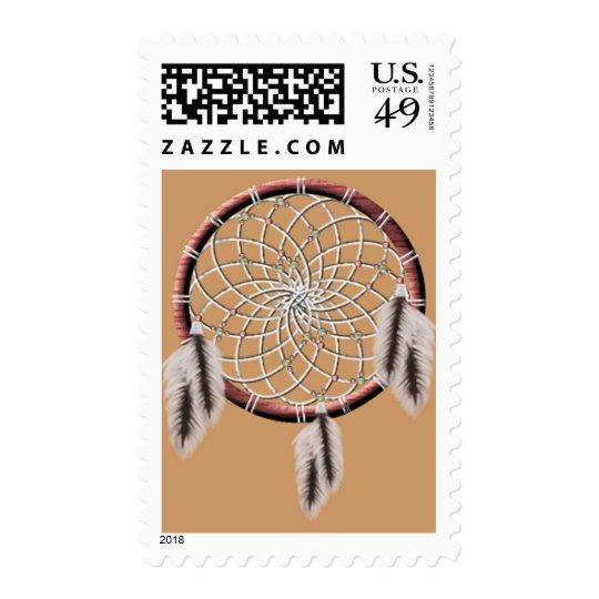 KRW Dreamcatcher Native American Postage Stamp