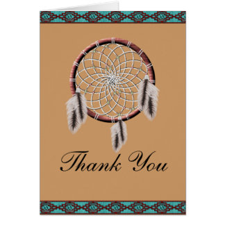 KRW Dreamcatcher Native American Thank You Card
