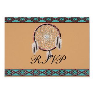 KRW Dreamcatcher Native American Wedding RSVP Card