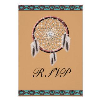 KRW Dreamcatcher Native American Wedding RSVP Custom Announcement