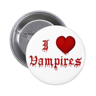KRW Dripping Blood I Love Vampires Button