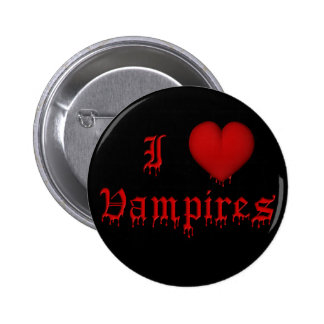 KRW Dripping Blood I Love Vampires Pinback Button