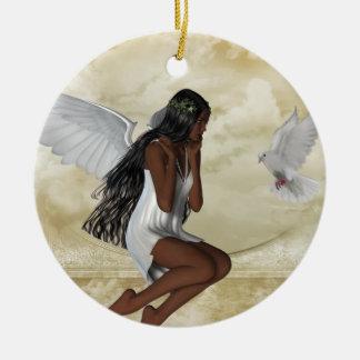 KRW el ángel y el ornamento inspirado de la paloma Ornamente De Reyes