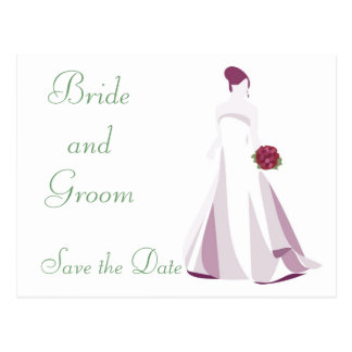 KRW Elegant Bride Custom Save the Date Card