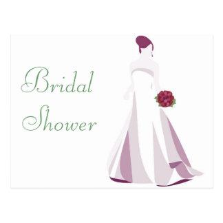KRW Elegant Bride Custom Shower Invitation Post Card