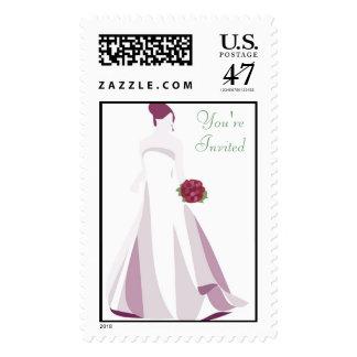 KRW Elegant Bride Wedding Shower Stamp