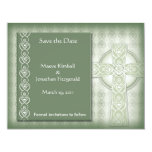 KRW Elegant Celtic Cross Irish Save the Date 4.25x5.5 Paper Invitation Card