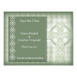 KRW Elegant Celtic Cross Irish Save the Date Card