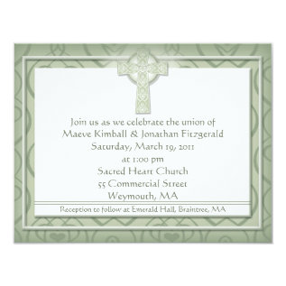 Krw Elegant Celtic Cross Irish Wedding Card at Zazzle