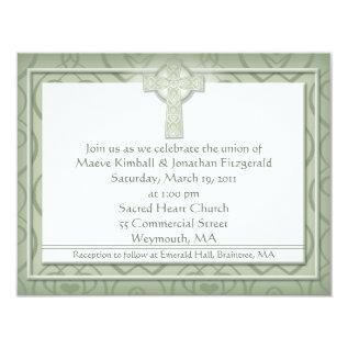 KRW Elegant Celtic Cross Irish Wedding Card at Zazzle