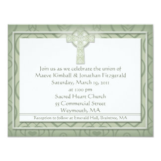 KRW Elegant Celtic Cross Irish Wedding Card