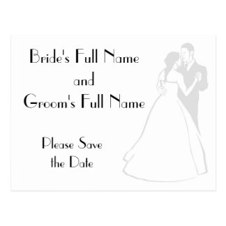 KRW Elegant Custom Save the Date Card