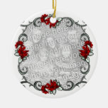 KRW Elegant Pointsettia Frame Keepsake Ornament