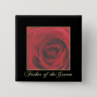 KRW Elegant Red Rose Father of the Groom Pin
