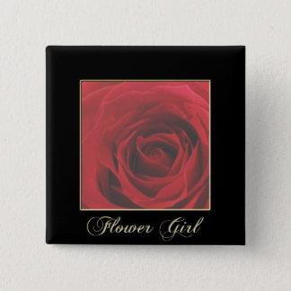KRW Elegant Red Rose Flower Girl Pin