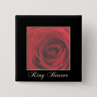 KRW Elegant Red Rose Ring Bearer Pin