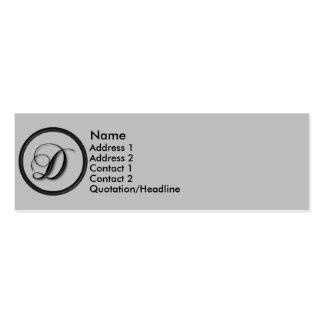 KRW Elegant Script Monogram D Profile Card