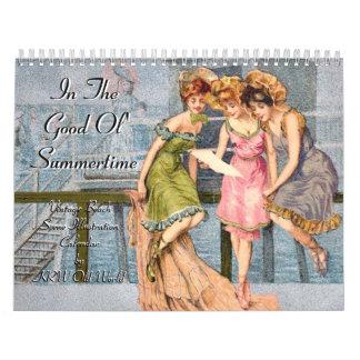 KRW en el buen vintage 2012 del verano de Ol Calendarios