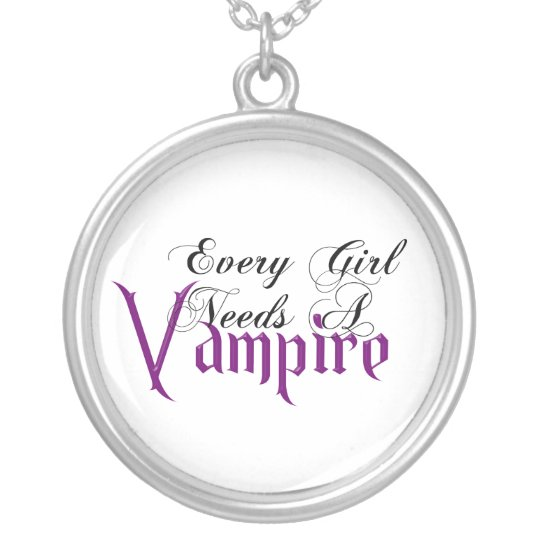 KRW Every Girl Needs a Vampire Silver Necklace