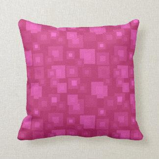 KRW Fabulous 50s Pink Retro Squares Pillow