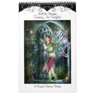 KRW Fantasy Art Portfolio Calendar
