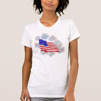 KRW Fireworks Flag Patriotic Tank Top T-Shirt